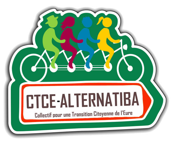 Logo CTCE-Alternatiba (collectif pour une transition citoyenne de l'Eure)