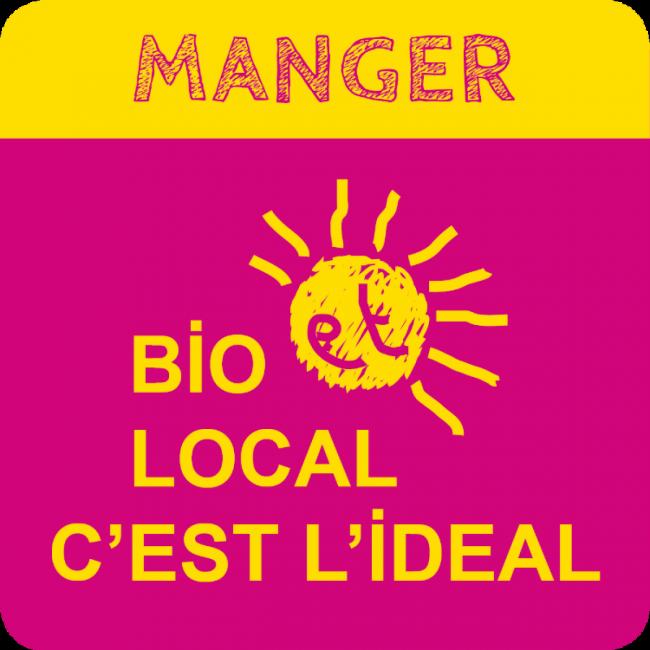Logo Biocoop Le monde allant vert