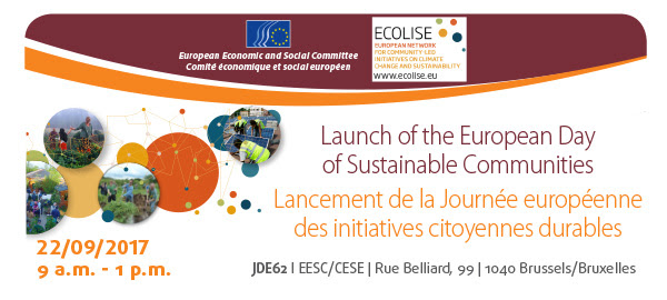 Lancement de la Journée européenne des initiatives citoyennes durables