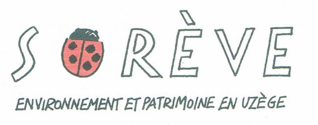 Logo SOREVE, environnement, patrimoine, qualité de vie en Uzège