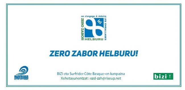 Logo le groupe de travail Consommation Responsable Zéro Déchet de Bizi! & les bénévoles de Surfrider Côte Basque