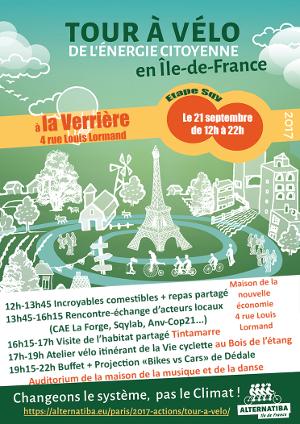 Journée découverte des alternatives à la Verrière : rencontre, atelier réparation vélo, projection débat