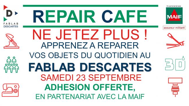 Repair Café Fablab Descartes - 23/09/2017