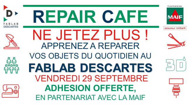 Repair Café Fablab Descartes - 29/09/2017