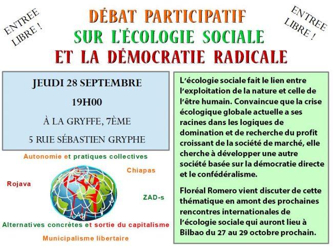 Débat sur l'écologie sociale et la démocratie radicale