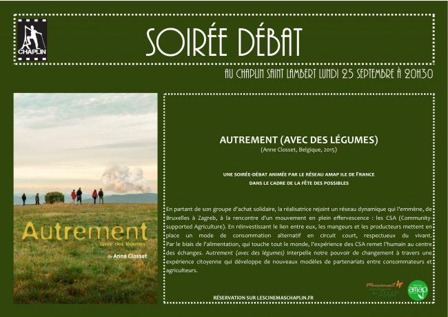 Soirée débat autour du film Autrement (avec des légumes) d'Anne Closset