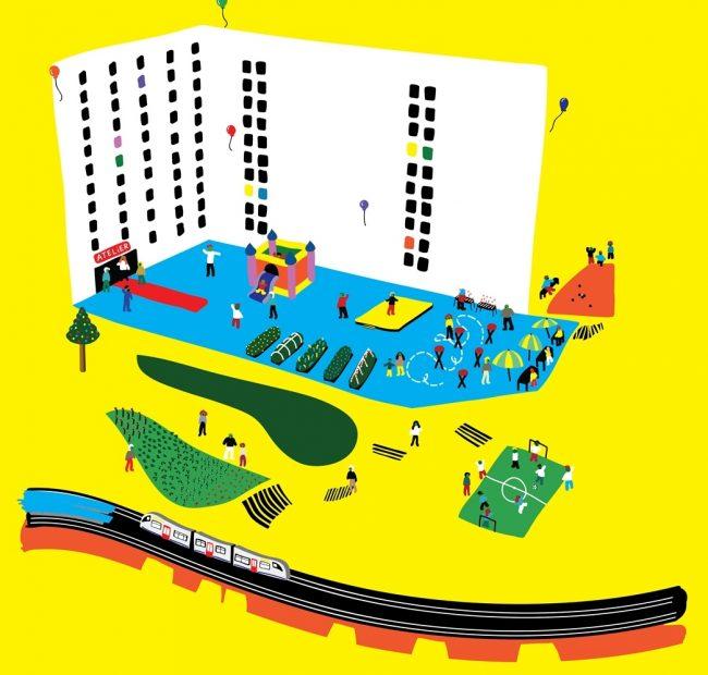 Logo Contrat de Quartier Jonction & 1000 Bxl en Transition