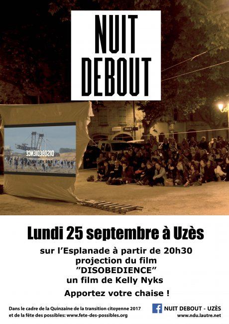 Nuit Debout d'Uzès fait son cinéma