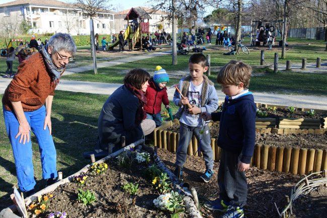 Ateliers parents-enfants au petit jardin du parc du Bosquet