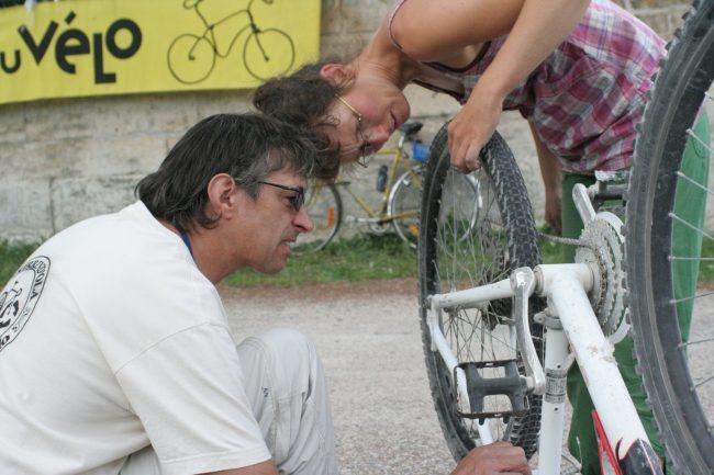 Atelier de réparation de vélos