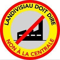 Logo Landivisiau doit dire non à la centrale