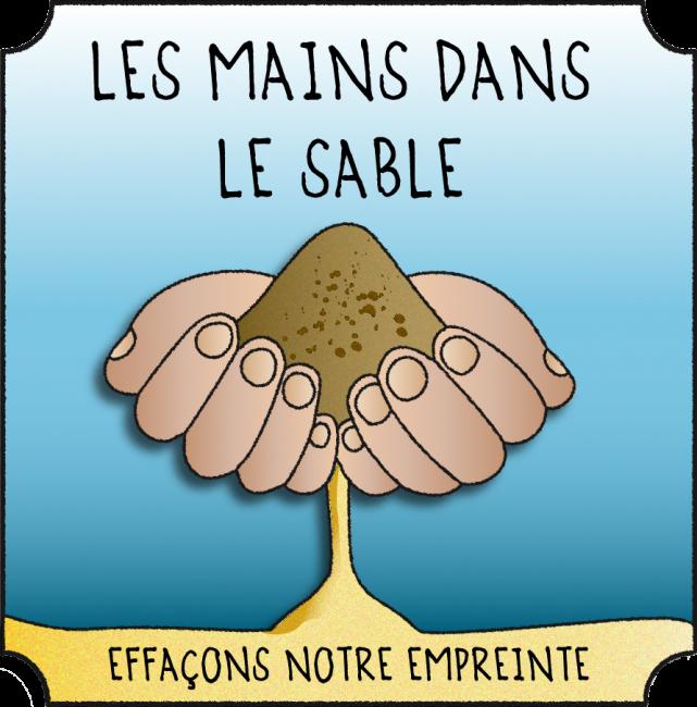 Logo Les Mains Dans Le Sable