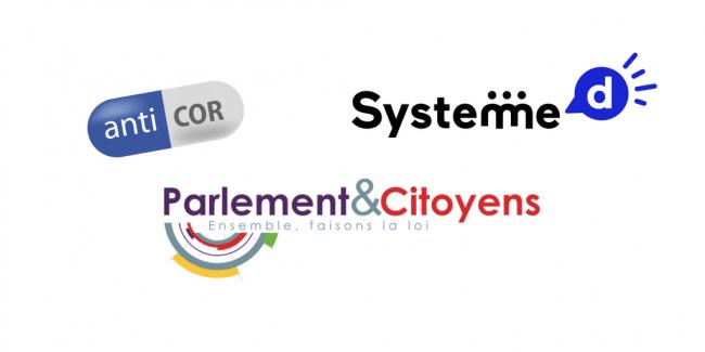 Logo Anticor, Système D et Parlement & Citoyens