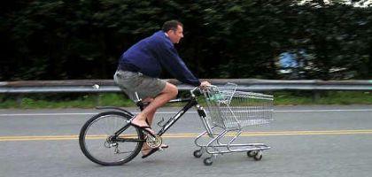 Faire ses courses à vélo