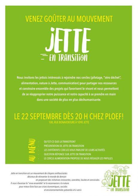 Venez Goûter au mouvement Jette en transition
