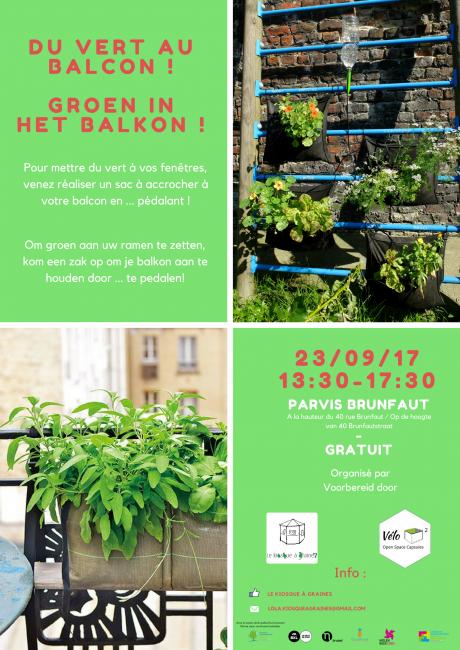 Du vert au balcon ! // Groen in het balkon !
