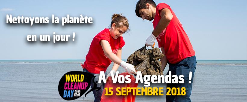 World CleanUp Day – Nettoyons la planète en 1 jour