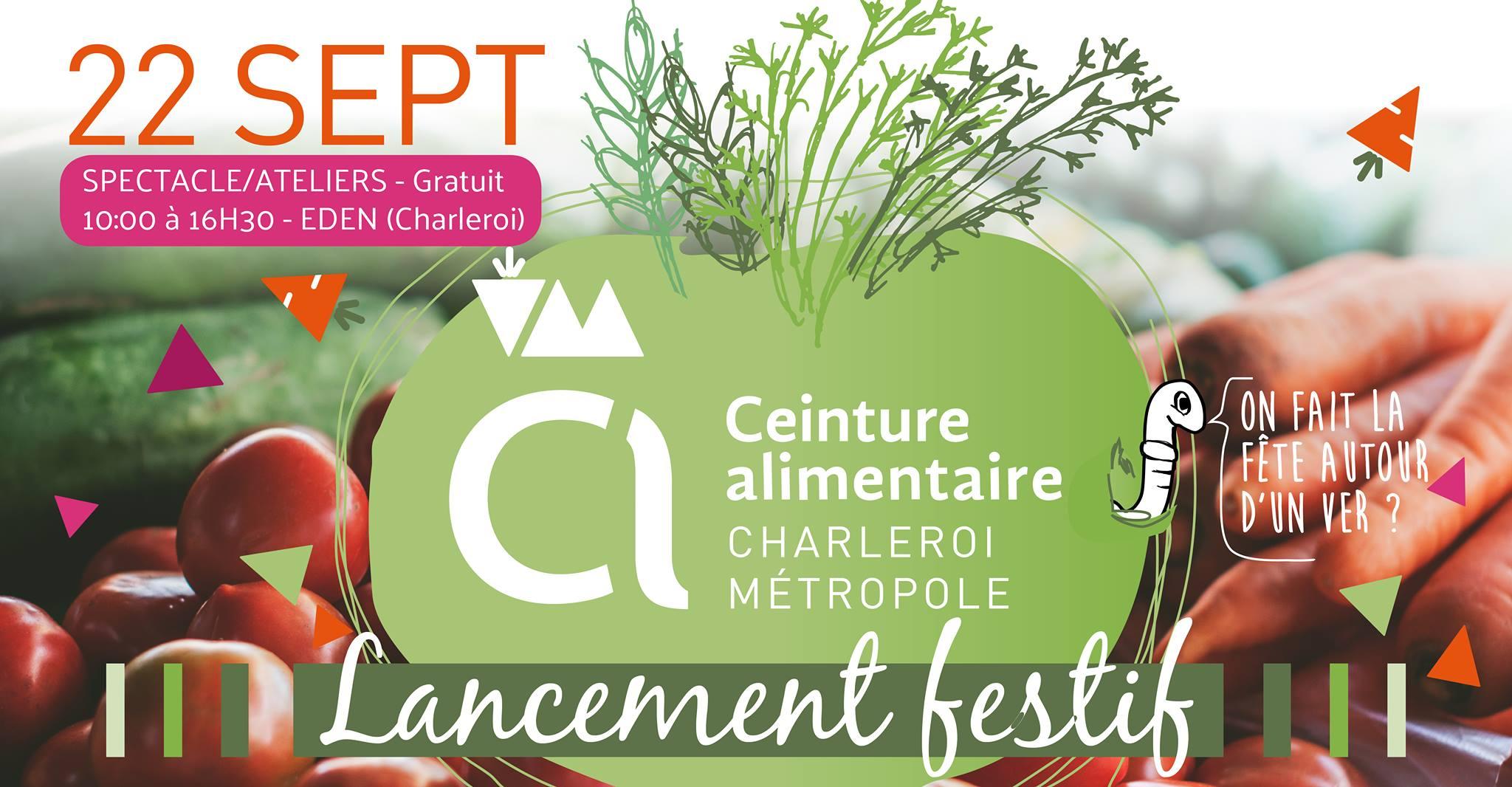 Qu'est ce qu'on mange – Théâtre + lancement festif de la ceinture alimentaire Charleroi