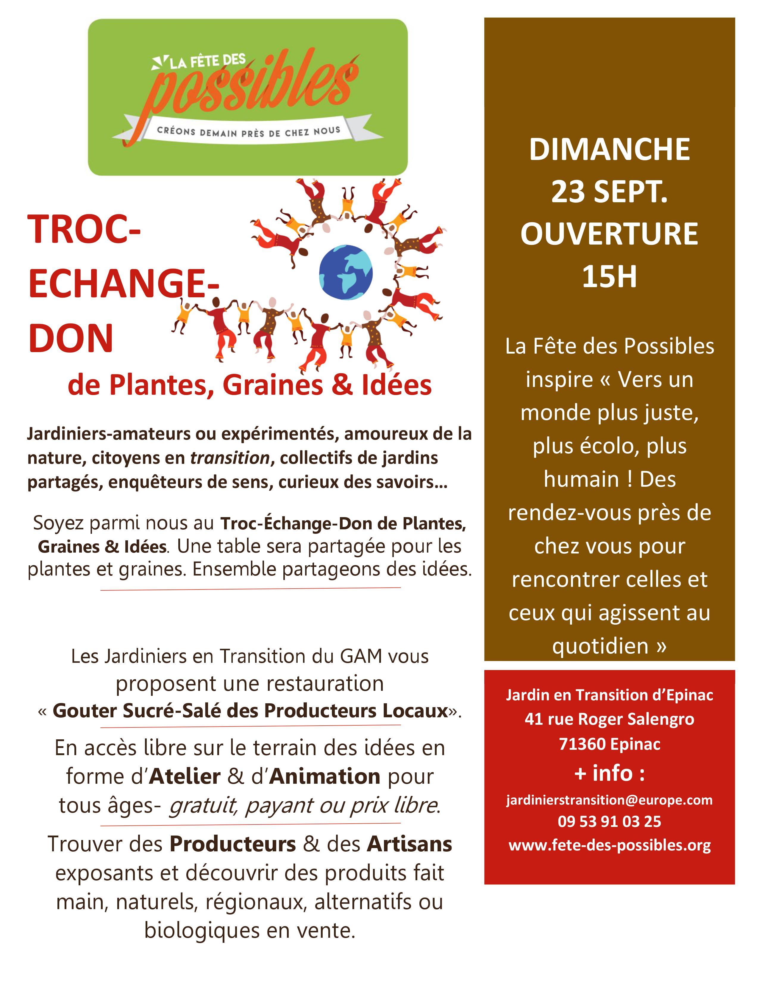 Troc, Echange, Don de plantes, graines et idées