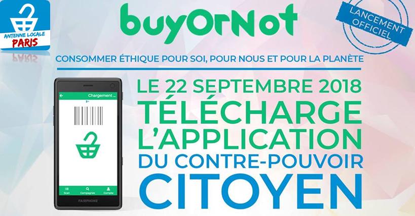 Lancement officiel de l'application BuyOrNot