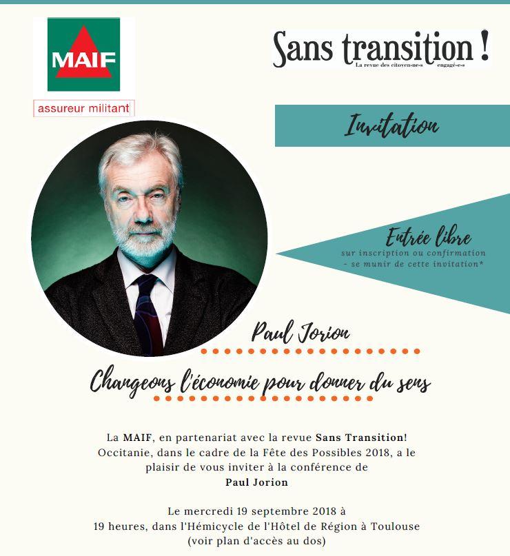 Conférence-débat. Paul Jorion «Changeons l'économie pour redonner du sens»