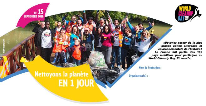 Word Clean Up Day A Angers – nettoyons la planète en 1 jour