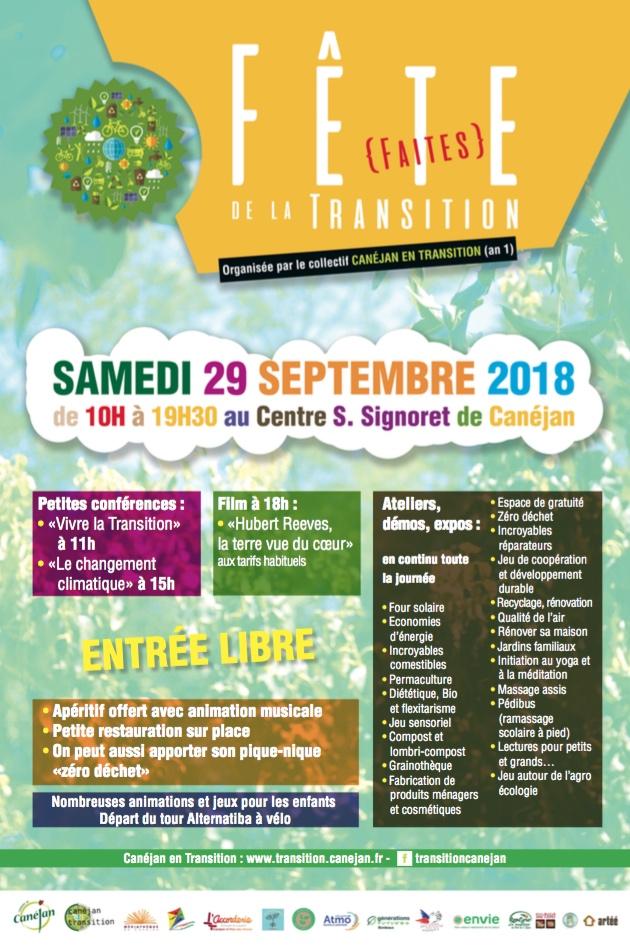 Fête de la transition organisée par le collectif Canéjan en transition