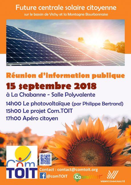 Réunion d'information publique sur l'énergie solaire