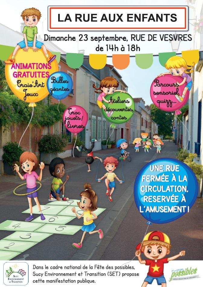 Rue aux Enfants, rue pour tous à Sucy