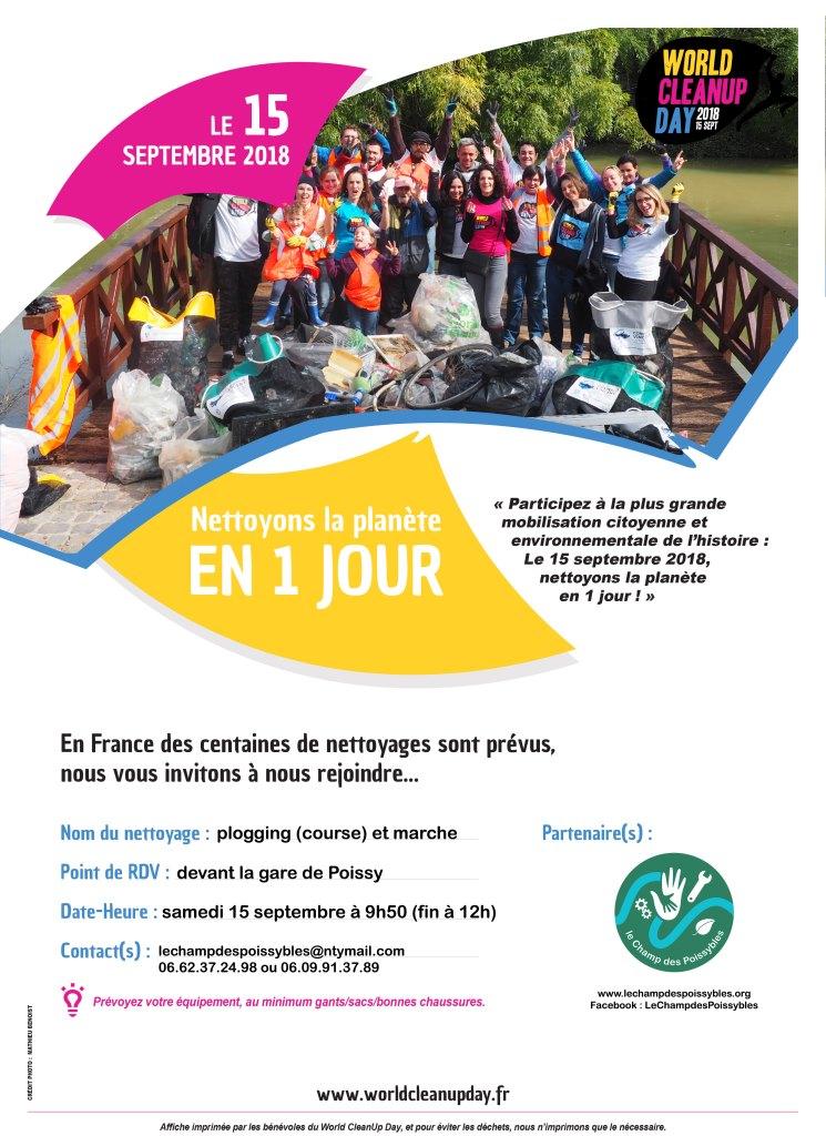 World CleanUp Day à Poissy – plogging et marche