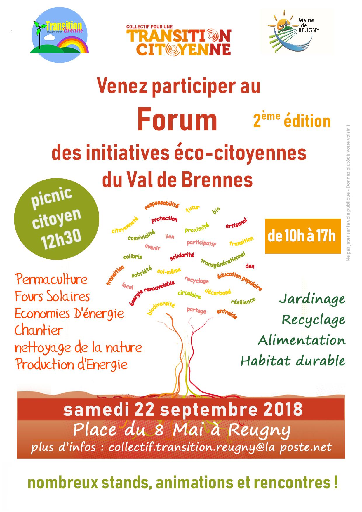 Forum des initiatives éco-citoyennes en Val de Brenne (2ème édition)