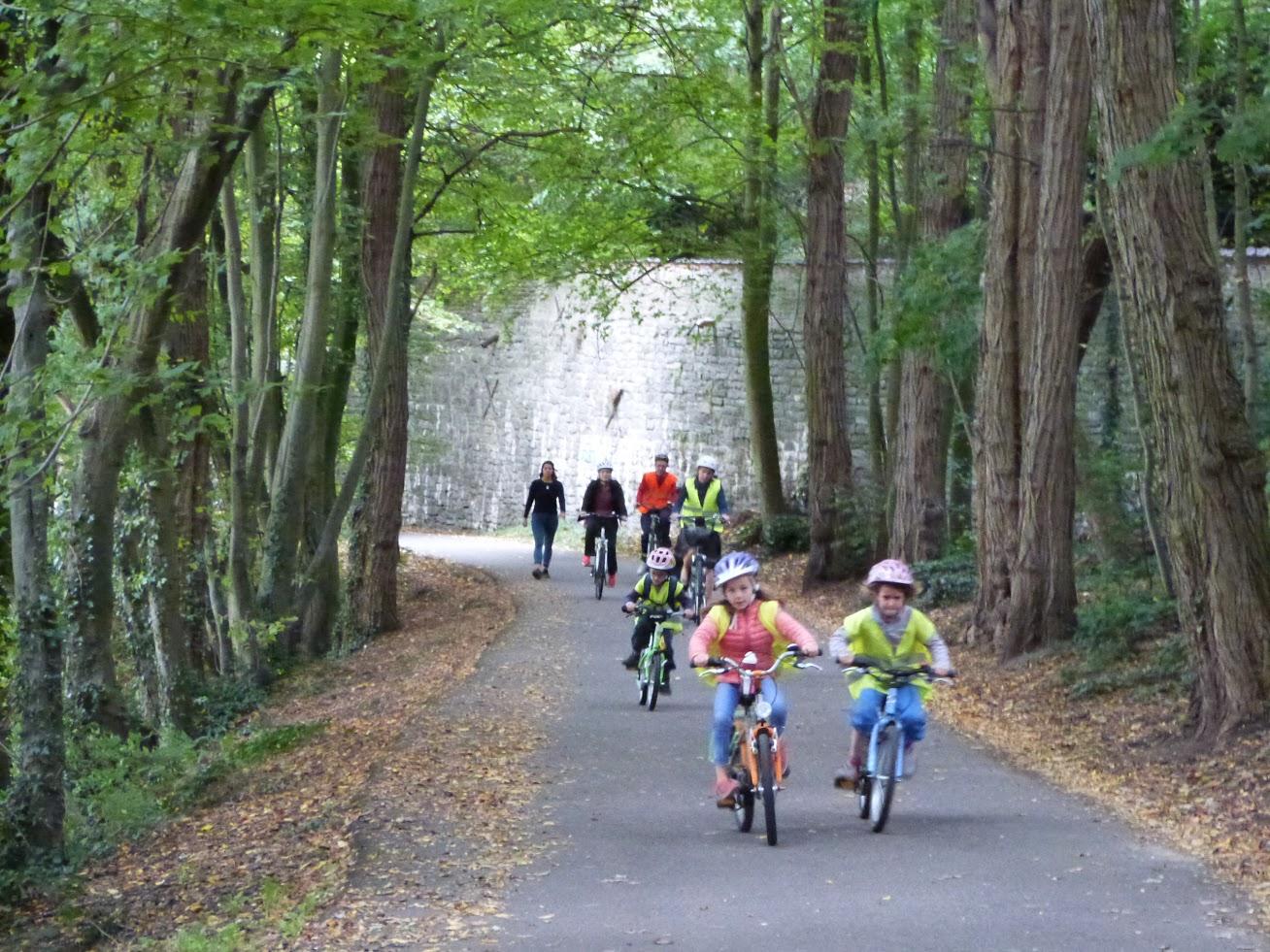 Balade familiale à vélo