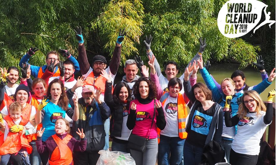 World CleanUp Day bord mer