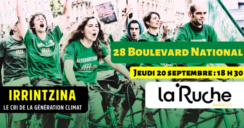 Projection du film : Irrintzina, le cri de la génération climat