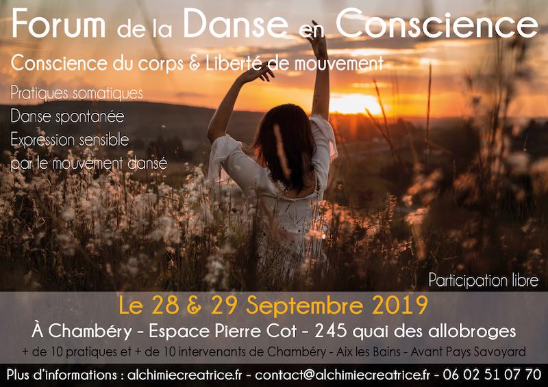 Forum de la Danse en Conscience 2019