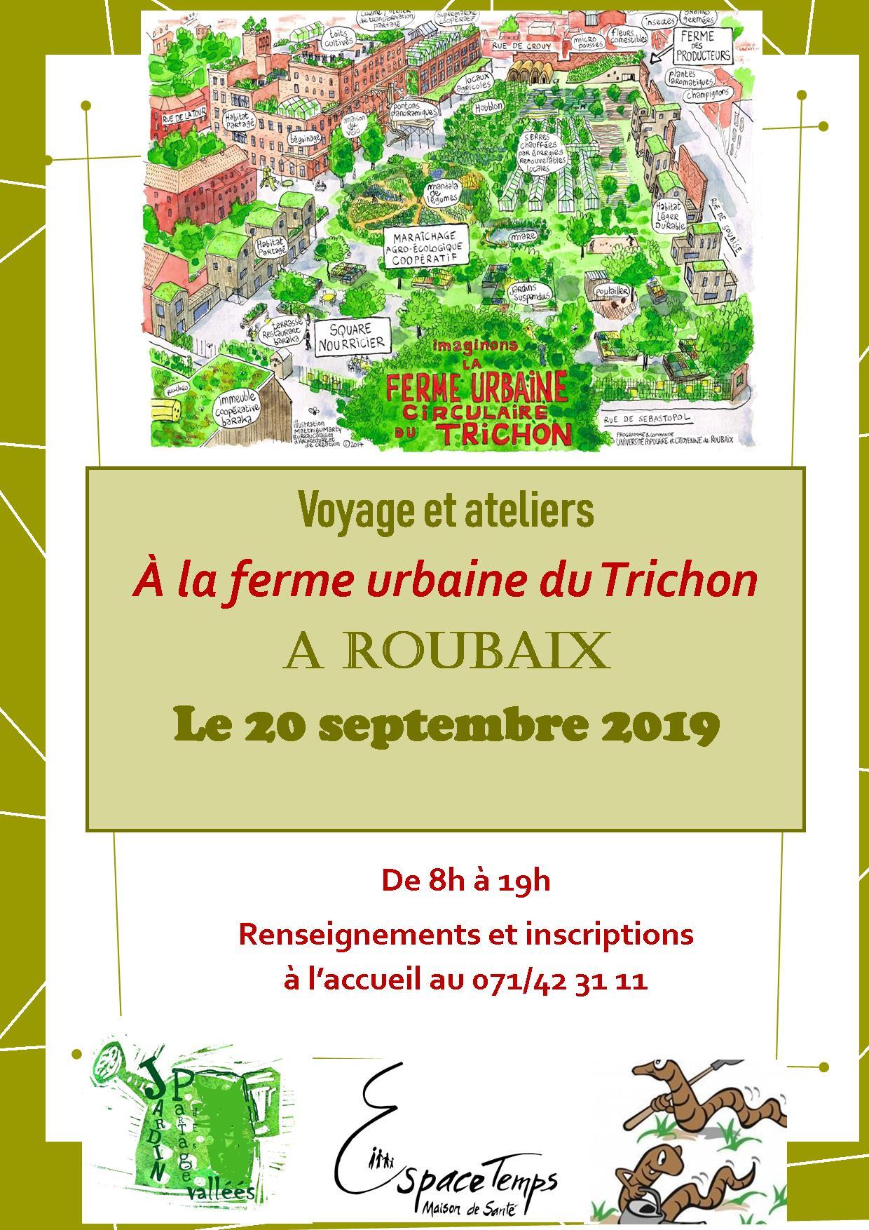 Voyage et Ateliers à la ferme urbaine du Trichon