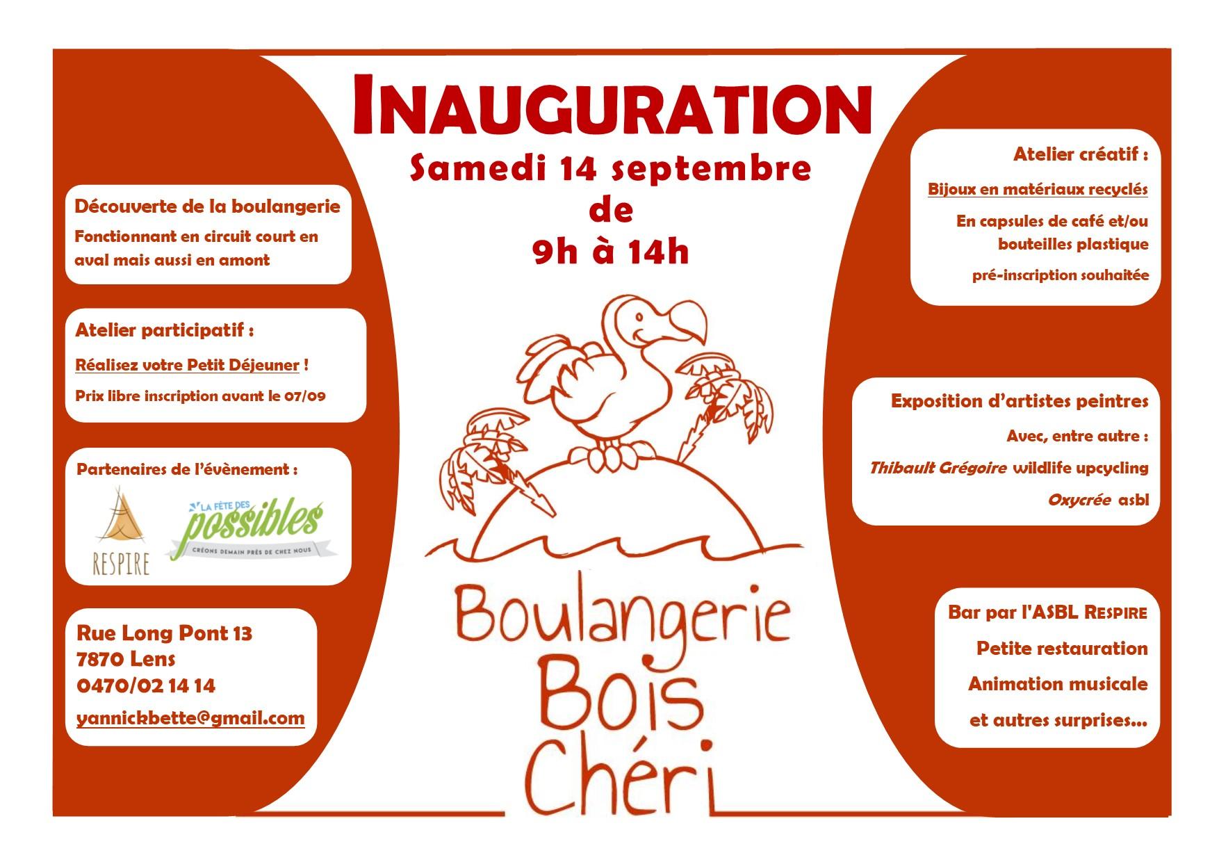 Inauguration de la Boulangerie Bois Chéri