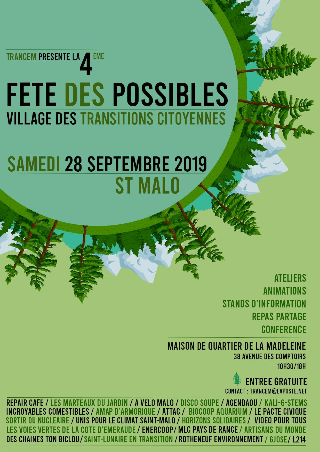 4ème FETE des POSSIBLES  –  Village des Transitions Citoyennes