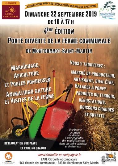 Porte ouverte de la ferme communale de Montbonnot-Saint Martin