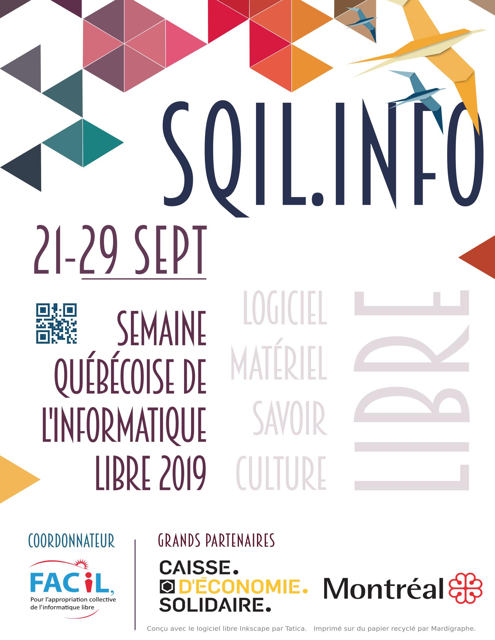 Semaine québécoise de l'informatique libre (SQiL) 2019