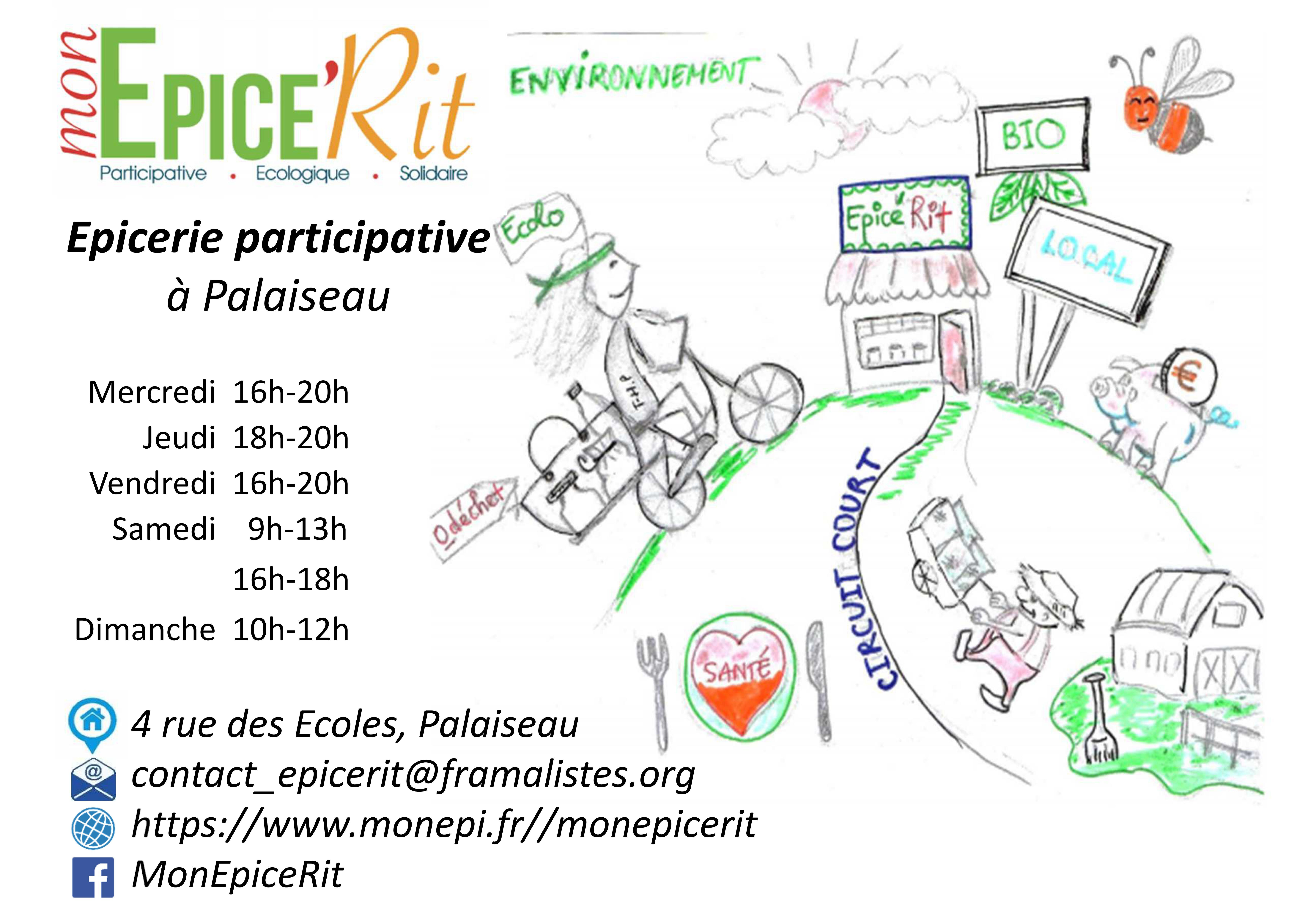 Portes ouvertes de Mon Epice'Rit – L'épicerie participative de Palaiseau