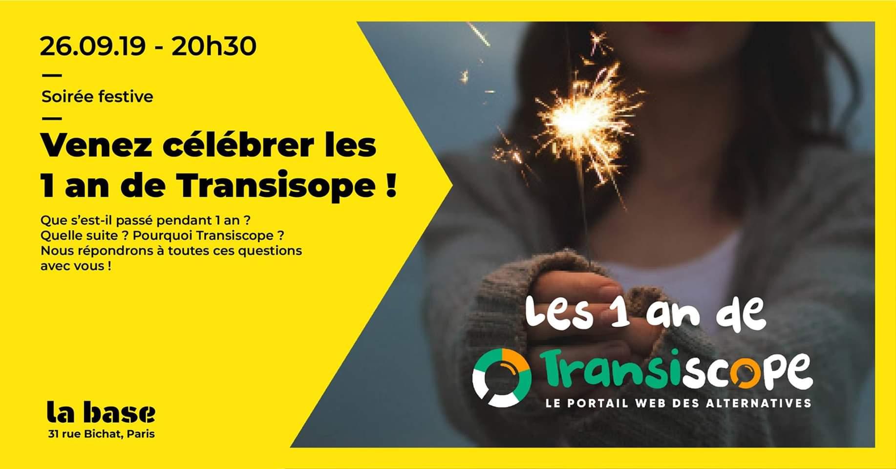 Venez Célébrer les 1 an de TRANSISCOPE