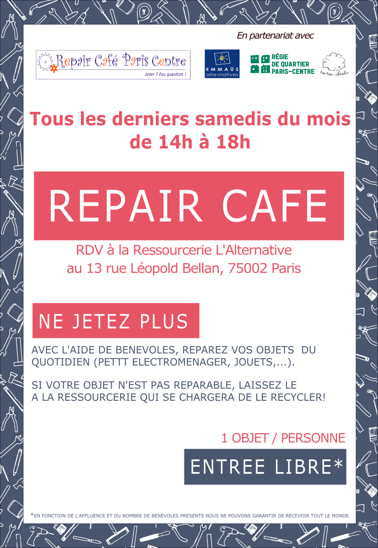 Repair Café Paris Centre