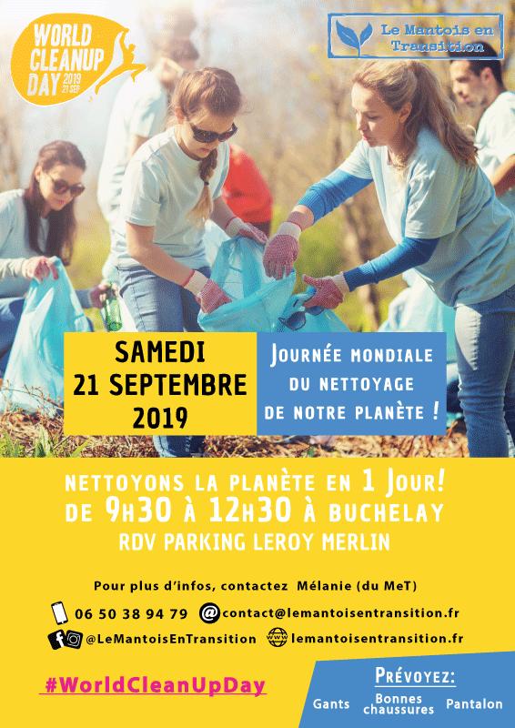 Journée mondiale de nettoyage de notre planète à Mantes-Buchelay