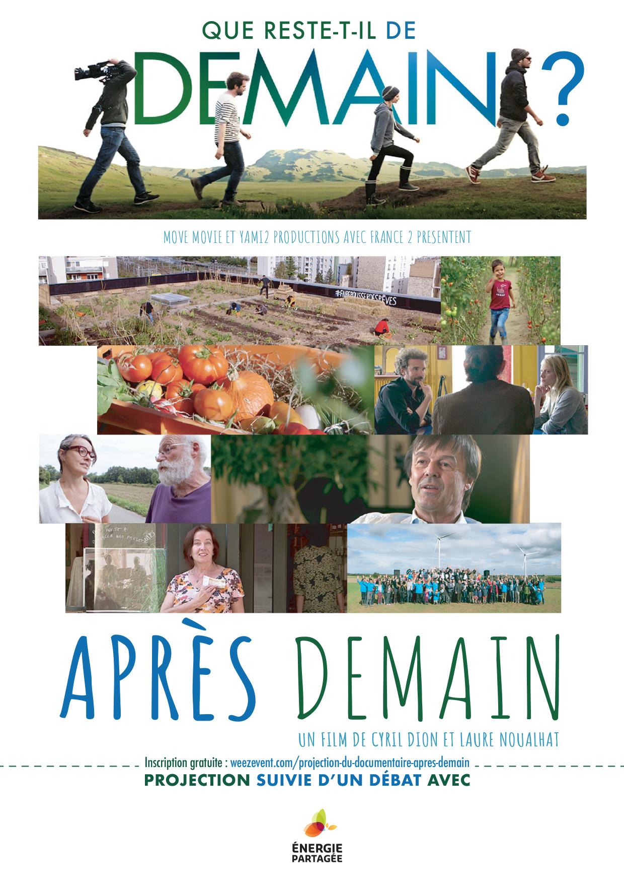 Projection du film «Après Demain»+ Echanges