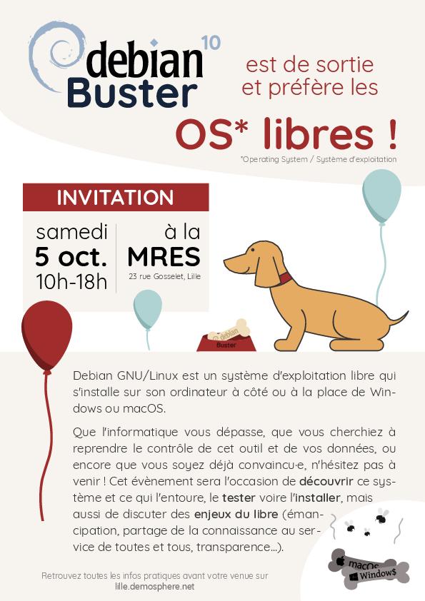 Fête de la sortie de Linux Debian Buster (v10)