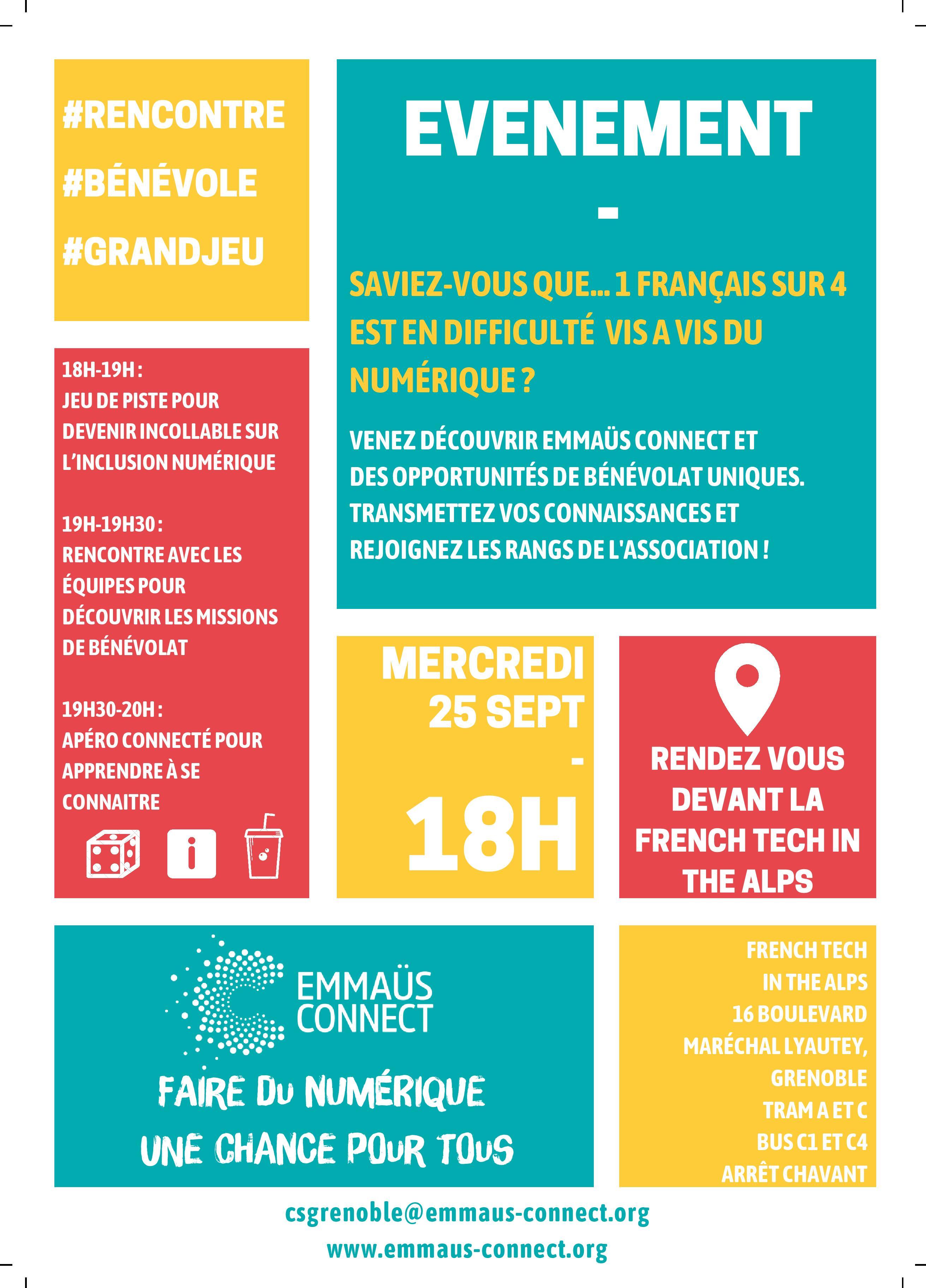 Découvrir l'inclusion numérique et Emmaüs Connect – Grenoble