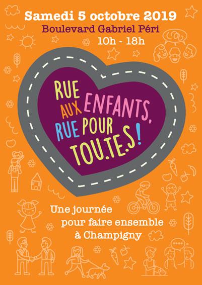 Rue aux enfants, rue pour tou.te.s – Une journée pour faire ensemble à Champigny
