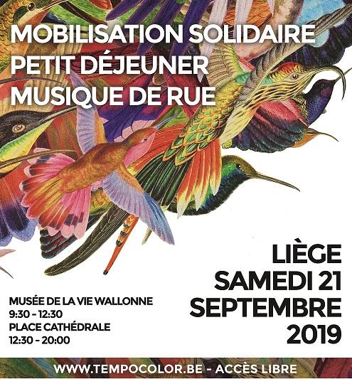 Mobilisation solidaires et musique de rue