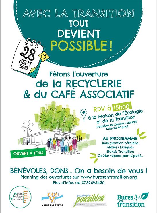 Ouverture d'une recyclerie et d'un café associatif !